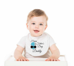 Happy Father's Day Daddy Baby Bib - Potter's Printing