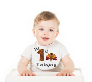 My First Thanksgiving Baby Bib - Potter's Printing