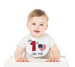 My First 4th Of July Baby Bib - Potter's Printing