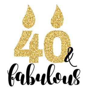 40th Birthday Fabulous Personalized Birthday Tissue Paper - Potter's Printing