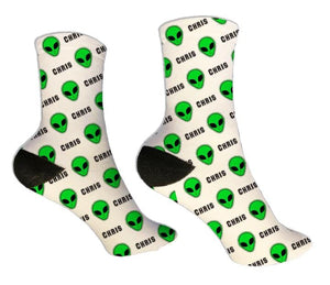 Aliens Personalized Socks - Potter's Printing