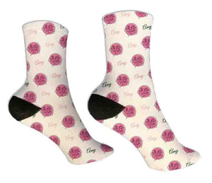 All You Need is Love Personalized Valentine Socks - Potter's Printing