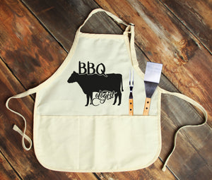 BBQ Cow-Ologist Personalized Apron - Potter's Printing