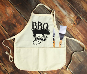 BBQ Pig-Ologist Personalized Apron - Potter's Printing