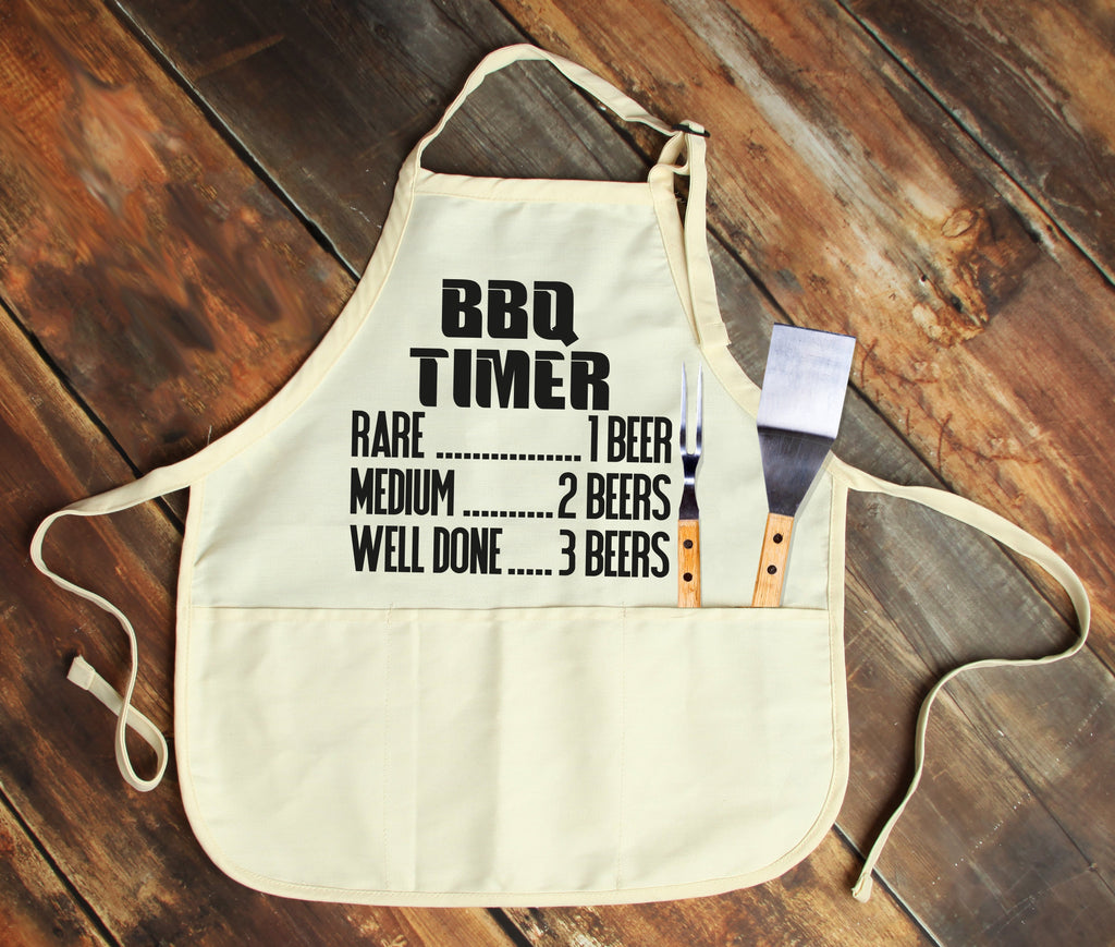 BBQ Timer Personalized Apron - Potter's Printing