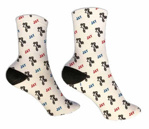 BMX Socks Personalized Socks - Potter's Printing