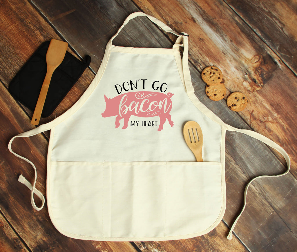 Don't go Bacon my Heart Personalized Apron - Potter's Printing