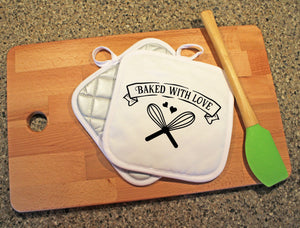 Baked With Love Pot Holder - Potter's Printing