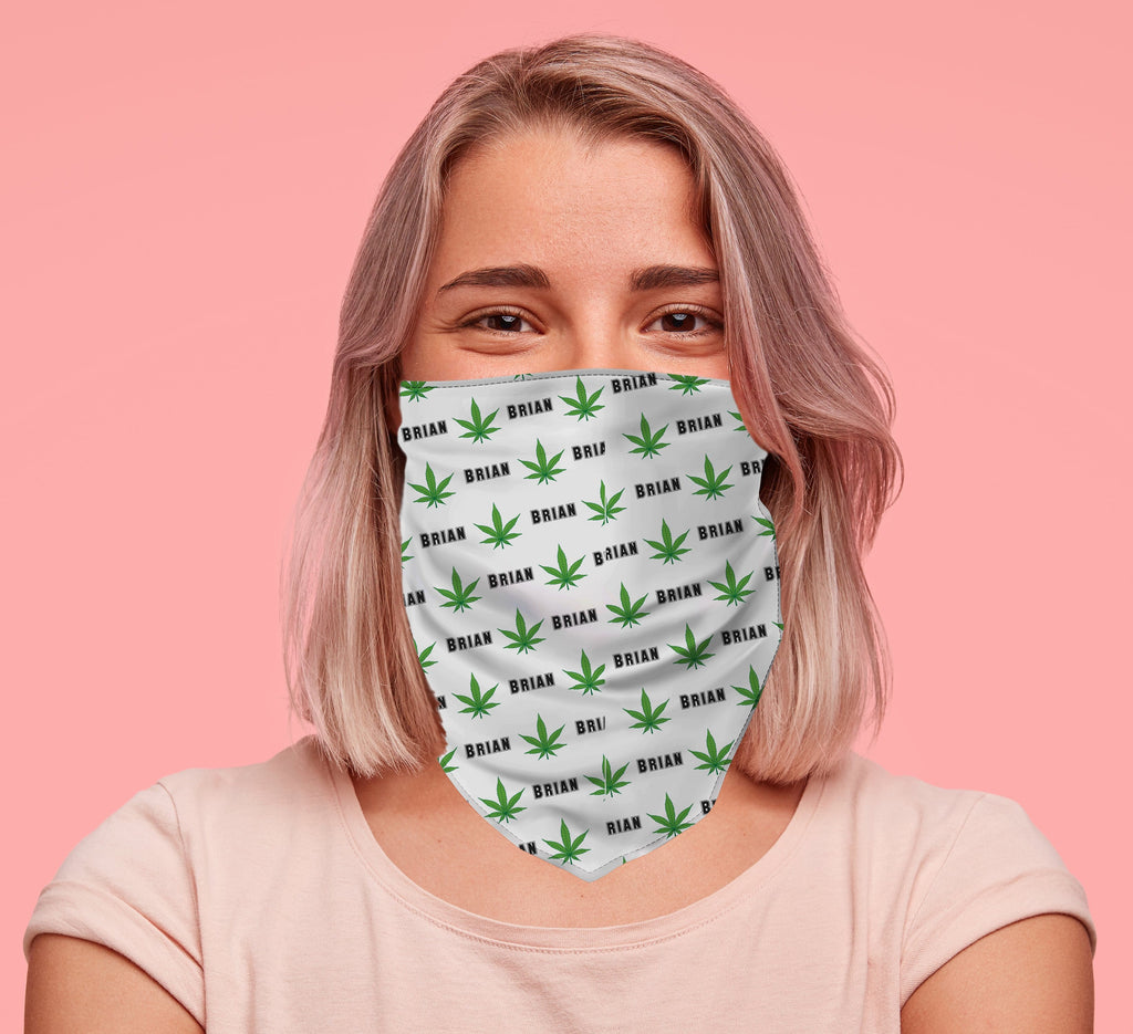 Cannabis Personalized Face Bandana - Potter's Printing