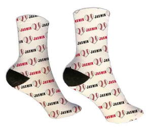 Baseball Personalized Valentine Socks - Potter's Printing