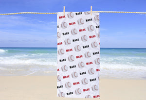 Baseball Personalized Beach Towel - Potter's Printing