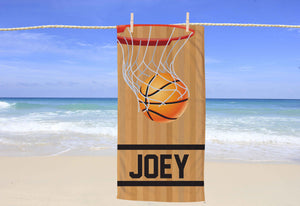 Basketball Personalized Beach Towel - Potter's Printing