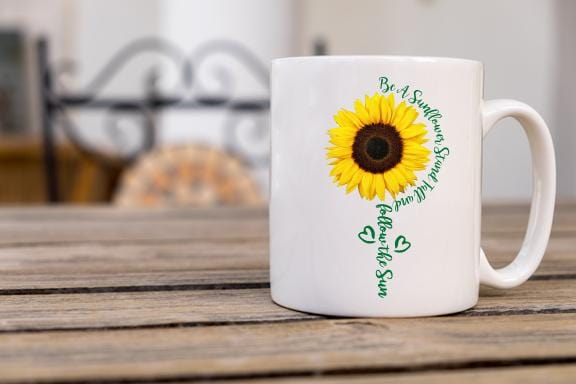 Be A Sunflower Coffee Mug - Potter's Printing