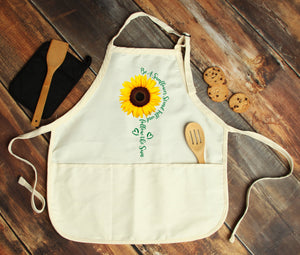Be a Sunflower Personalized Apron - Potter's Printing