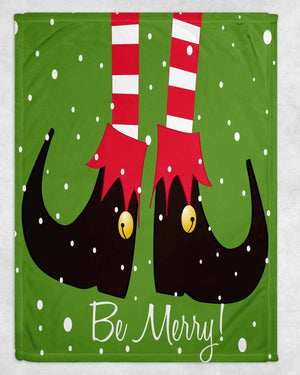 Be Merry Fleece Blanket - Potter's Printing