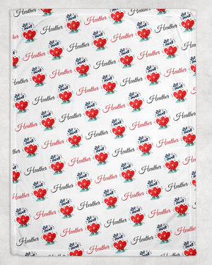 Be Mine Personalized Valentine Blanket - Potter's Printing