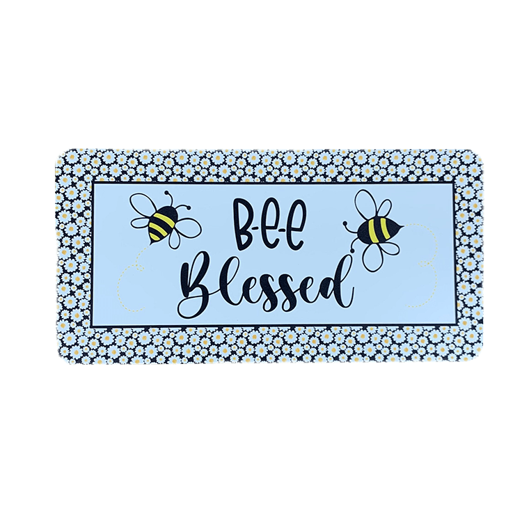 Bee Blessed Wreath Sign