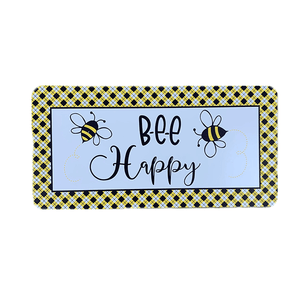 Bee Happy Wreath Sign