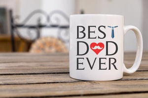 Best Dad Coffee Mug - Potter's Printing