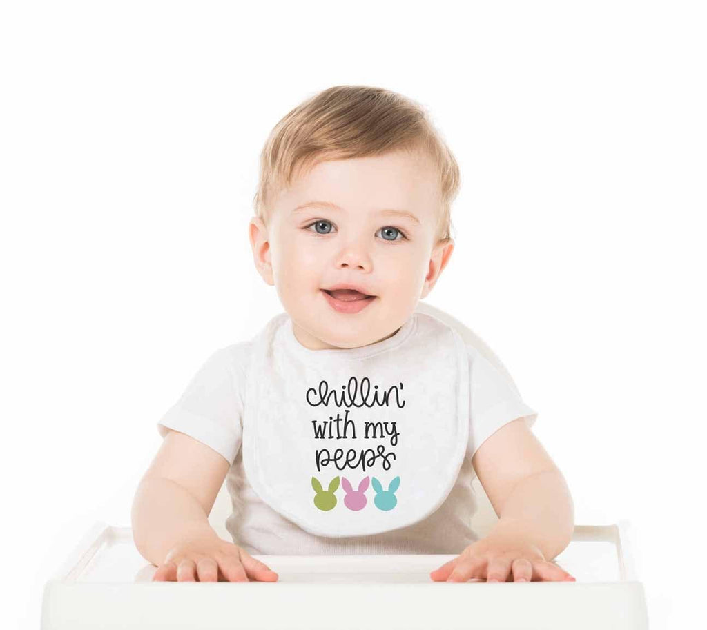 Chillin' With My Peeps Personalized Baby Bib - Potter's Printing