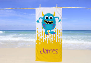 Monster Personalized Beach Towel - Potter's Printing