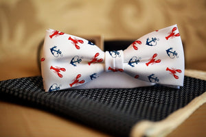 Anchors & Lobsters Bow Tie - Potter's Printing