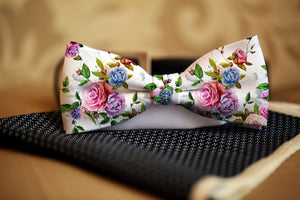 Floral Bow Tie - Potter's Printing