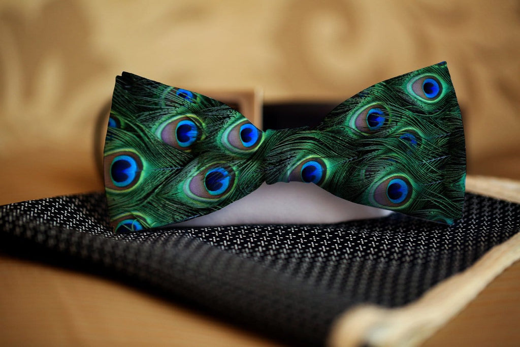 Peacock Bow Tie - Potter's Printing