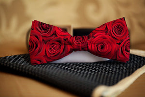 Roses Bow Tie - Potter's Printing