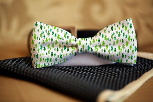 Shamrocks St. Patrick's Day Bow Tie - Potter's Printing