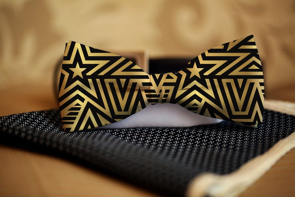Gold Star Bow Tie - Potter's Printing