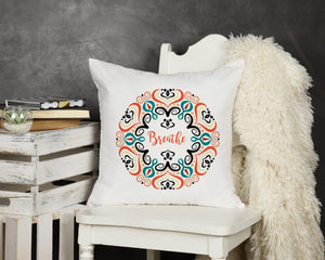 Breathe Throw Pillow - Potter's Printing