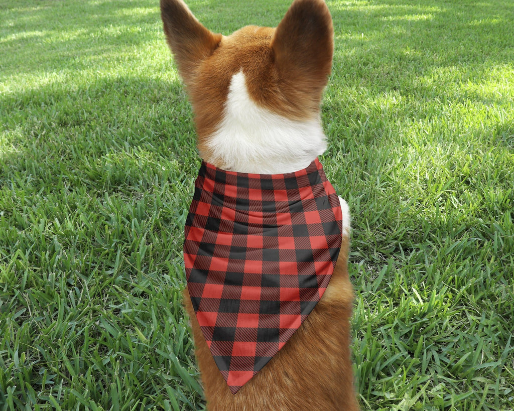 Buffalo Plaid Dog Bandana - Potter's Printing