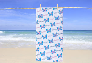 Butterfly Personalized Beach Towel - Potter's Printing