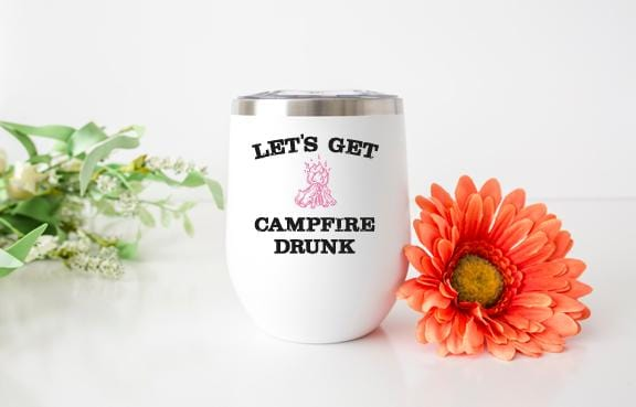 Campfire Drunk Wine Tumbler - Potter's Printing