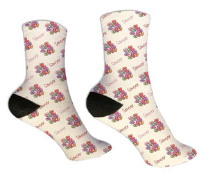 Candy Hearts Personalized Valentine Socks - Potter's Printing