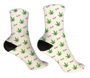 Cannabis Personalized Socks - Potter's Printing