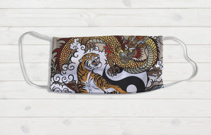 Chinese Dragon & Tiger Face Mask - Potter's Printing