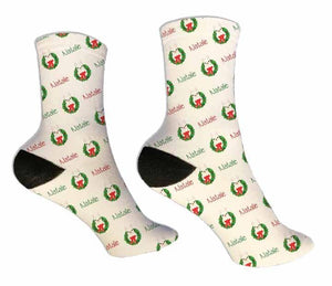 LLama Personalized Christmas Socks - Potter's Printing