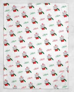 Christmas Mouse Personalized Blanket