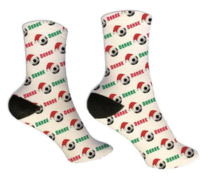 Soccer Personalized Christmas Socks
