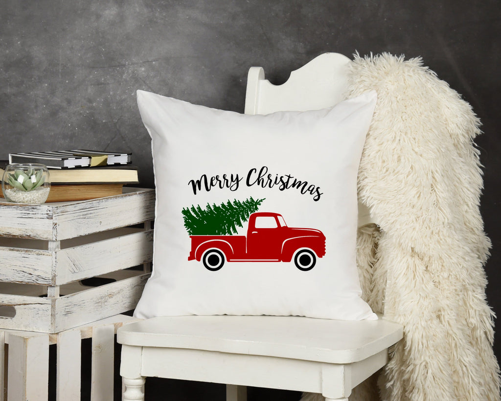 Christmas Truck Throw Pillow - Potter's Printing