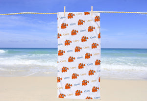 Clownfish Personalized Beach Towel - Potter's Printing