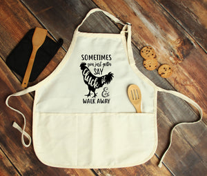 Sometimes You Just Gotta Say Cluck it Personalized Apron - Potter's Printing