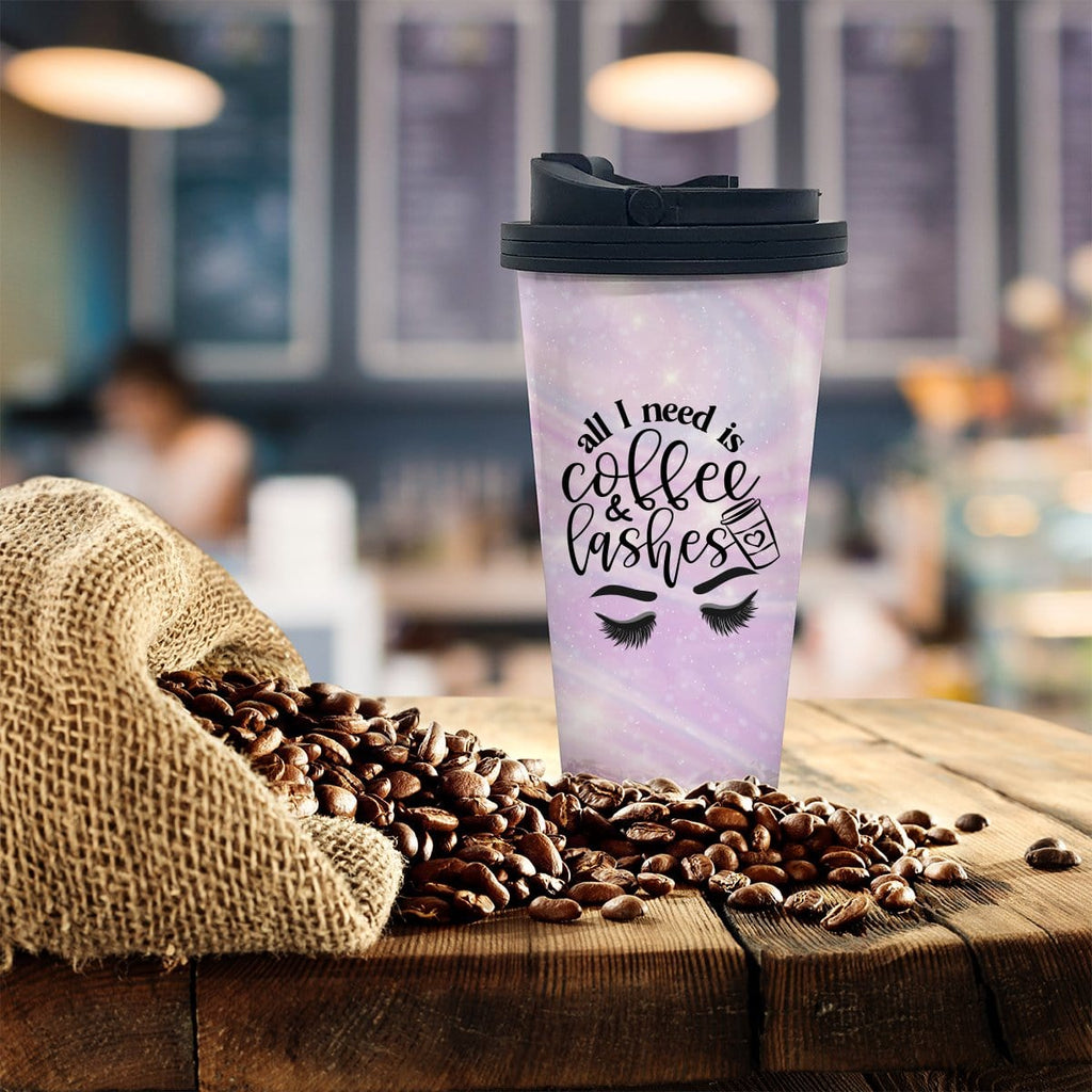 Lashes Coffee Tumbler - Potter's Printing