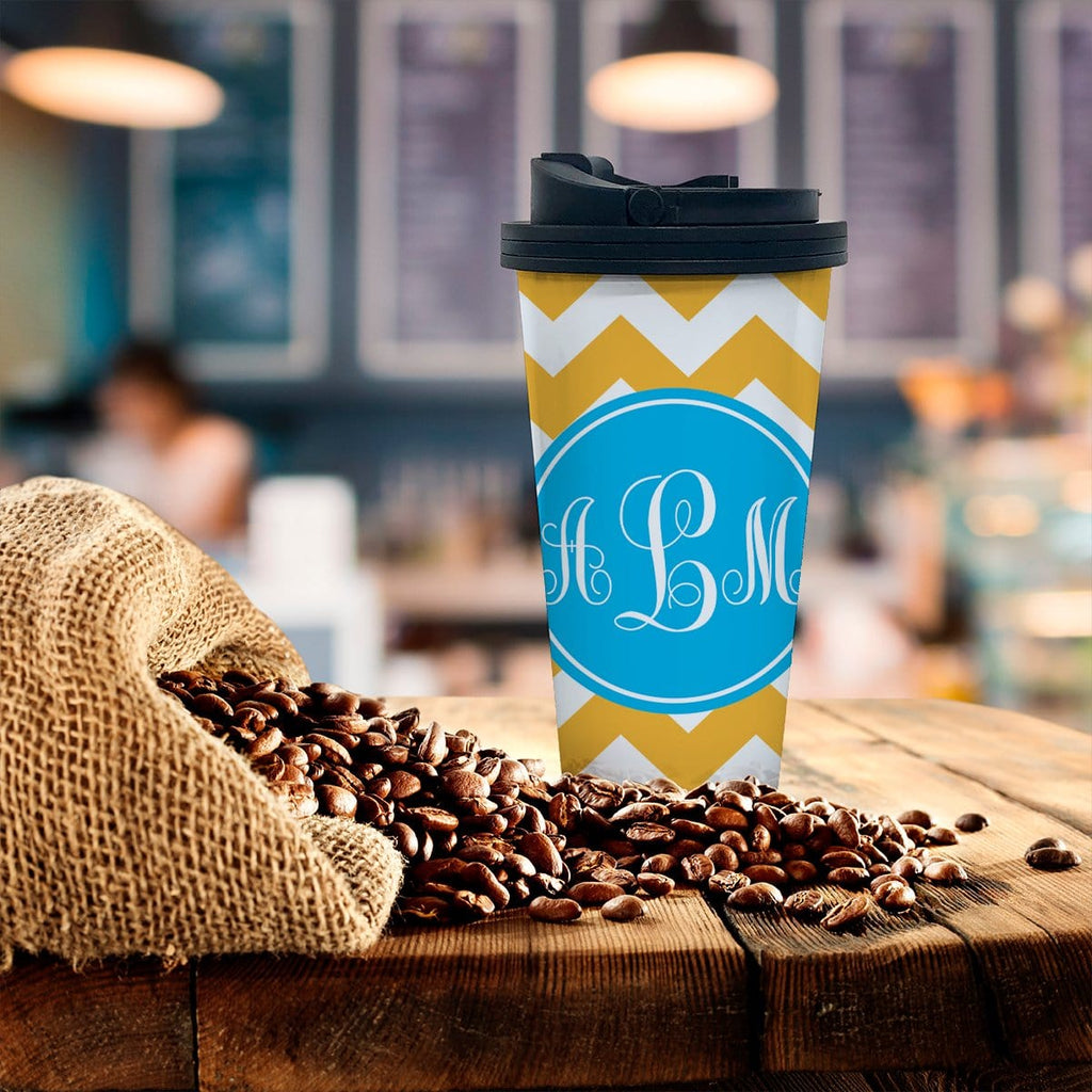 Personalized Chevron Coffee Tumbler