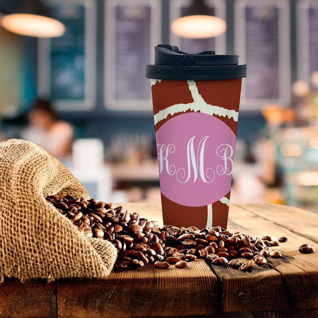 Personalized Giraffe Print Coffee Tumbler