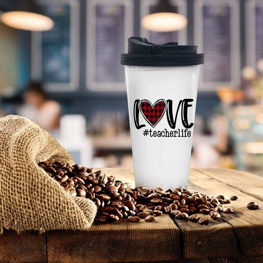 Love Teacher Life Coffee Tumbler - Potter's Printing