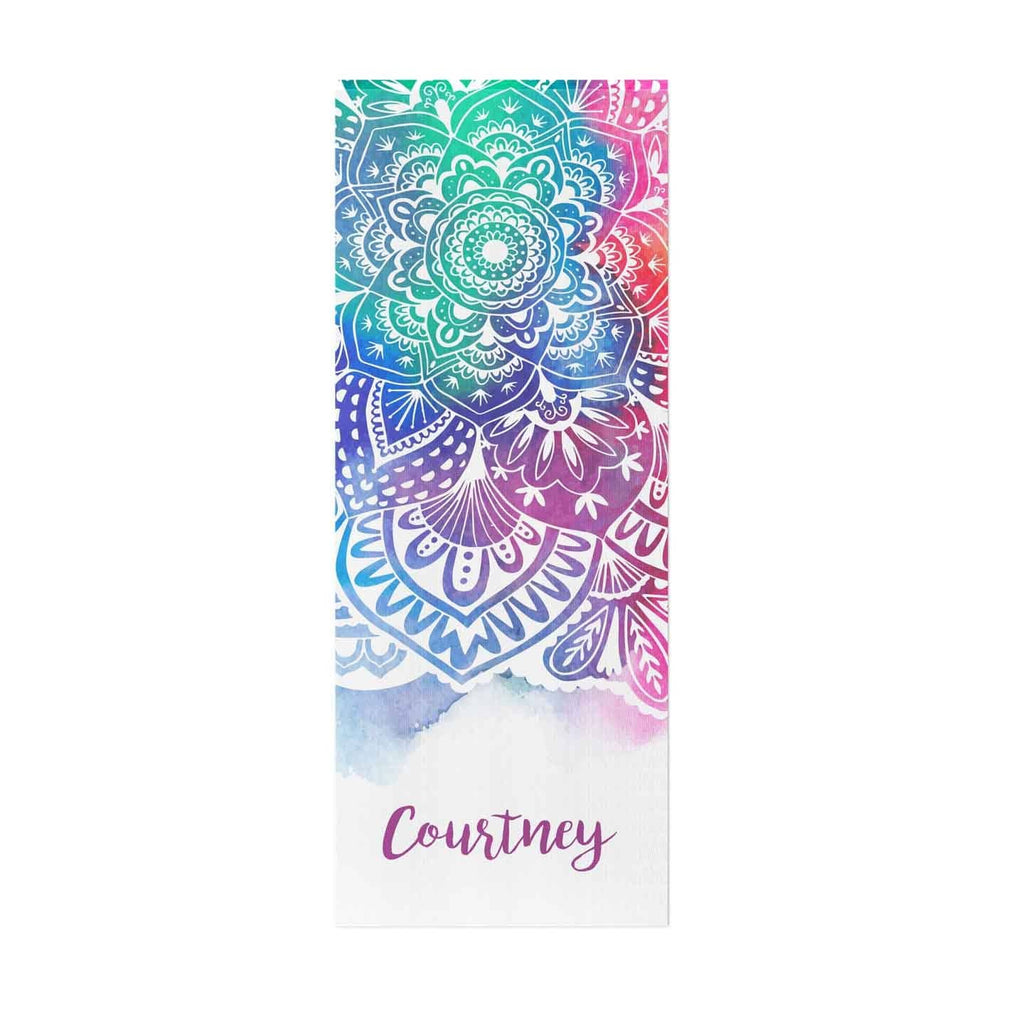 Colorful Mandala Personalized Yoga Mat - Potter's Printing