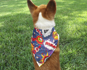 Comic Book Dog Bandana - Potter's Printing